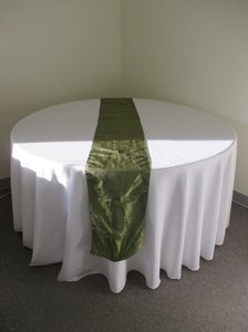 Green 6 Willow Taffeta Table Runners Tablecloth