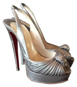 Christian Louboutin Bronze Leather Platforms