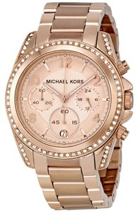 Michael Kors Rose Gold Crystal Dial Stainless Steel Designer Ladies Watch