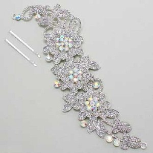 Elegant Bejeweled Sparkling Rhinestone Crystal Bridal Hair Stick Jewelry