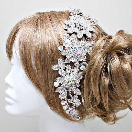 Ab Crystal Elegant Bejeweled Sparkling Rhinestone Stick Hair Accessories