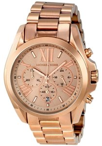 Michael Kors Large Boyfriend Style Rose Gold Stainless Steel Designer Watch