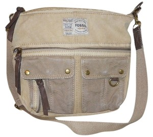 Fossil Canvas Cross Body Bag