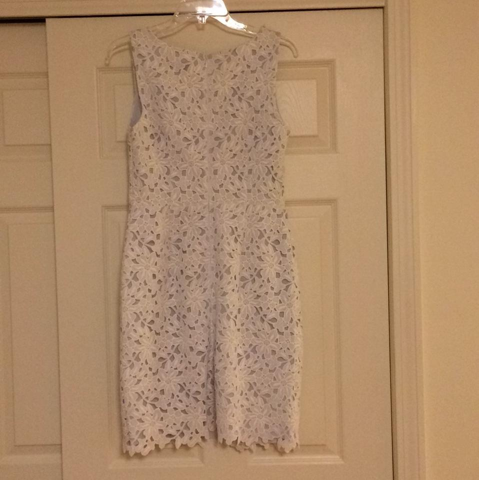 Ann Taylor LOFT White Lace Sheath Knee Length Cocktail Dress Size 4 ...