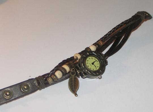 Other BOGO Brown & Bronze Leather Bracelet Watch Free Shipping Image 1