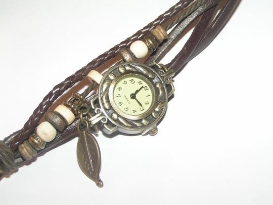 Other BOGO Brown & Bronze Leather Bracelet Watch Free Shipping Image 3