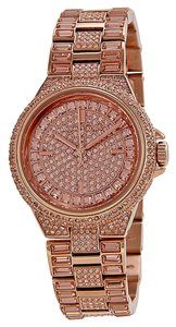 Michael Kors Crystal Pave Luxury Rose Gold Designer Ladies Watch