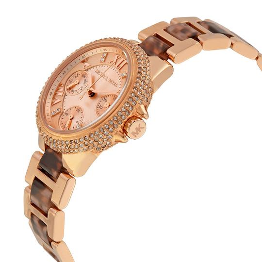 Michael Kors Tortoise Shell Rose Gold with Crystals Luxury Ladies Watch
