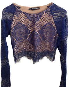 For Love & Lemons Lace Top Blue