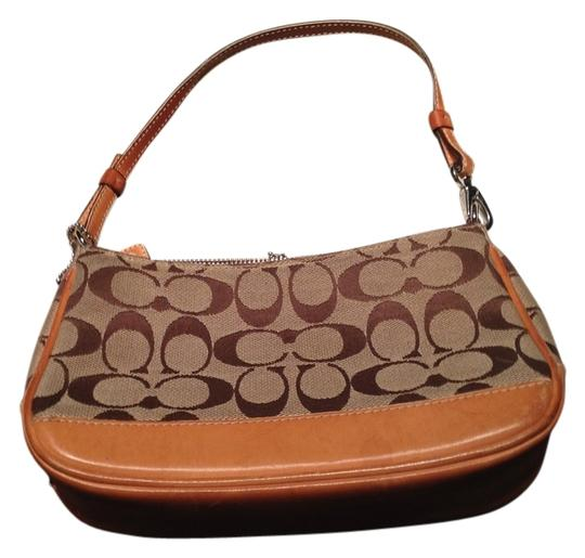 Preload https://item3.tradesy.com/images/coach-pouchette-tan-canvas-baguette-533762-0-0.jpg?width=440&height=440