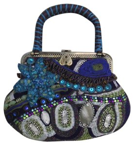 Chico's Evening Special Occasion Blue Multi Clutch