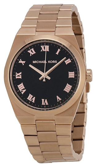 Michael Kors Rose Gold Classic Ladies Watch with Black Dial