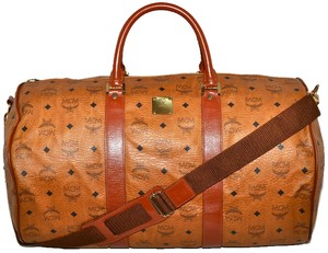 MCM Modern Creation Munich Modern Creation Munchen Made In Germany German German Designer Cognac Cognac Visetos Visetos Brown Travel Bag