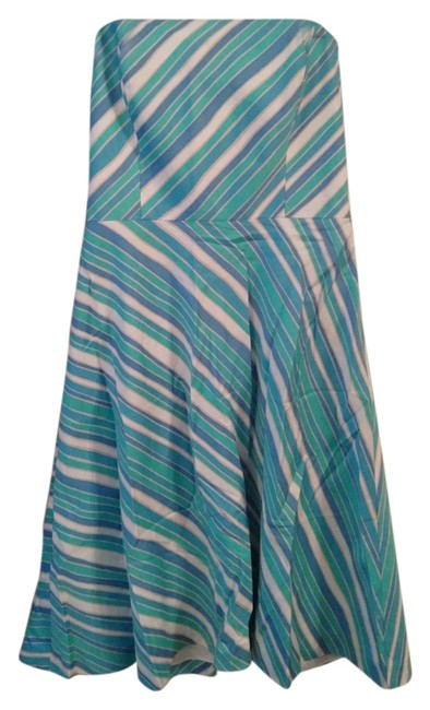 Ann Taylor short dress Blue and White striped on Tradesy