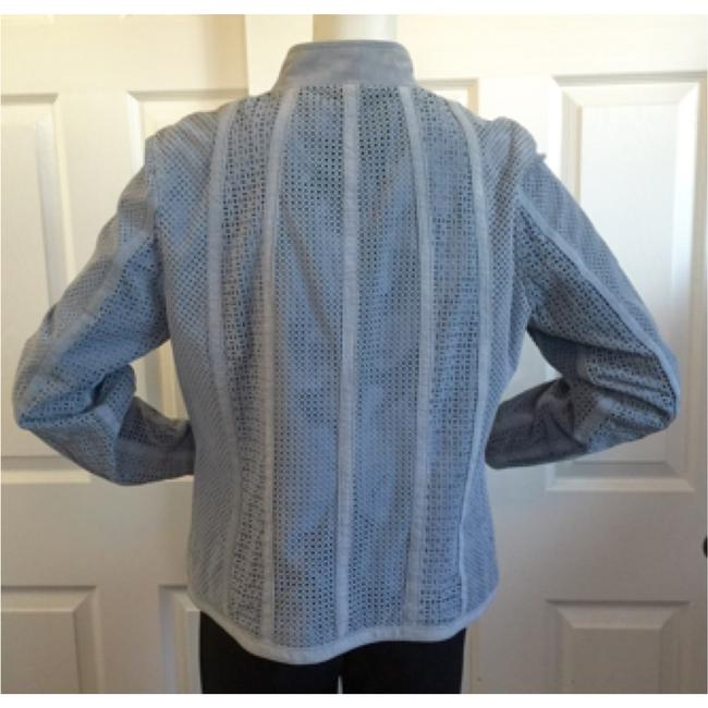 Yvonne le Marie Baby Blue Leather Jacket