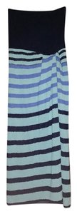 Saint Laurent short dress Aqua and blue Vintage Striped on Tradesy