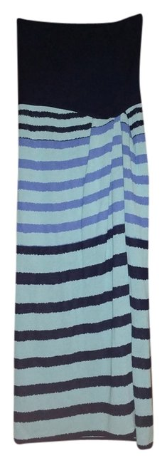 Saint Laurent short dress Aqua and blue Vintage Striped Yves Cotton on Tradesy