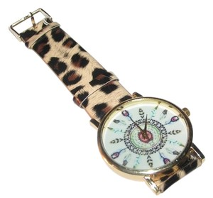 Cheetah Print Feather Dial Quartz Watch Free Shipping