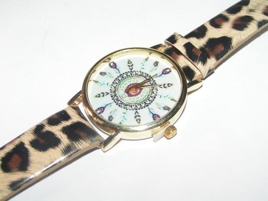 Other BOGO Free Cheetah Print Feather Dial Quartz Watch Free Shipping