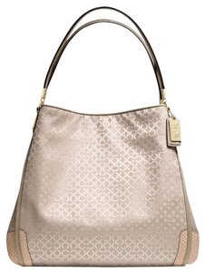 Coach Madison Signature Op Art Handbag Shoulder Bag