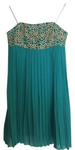 Lilly Pulitzer Gold Semi-formal Pleated Dress