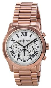 Michael Kors White Dial Classic Rose Gold Casual Ladies Watch