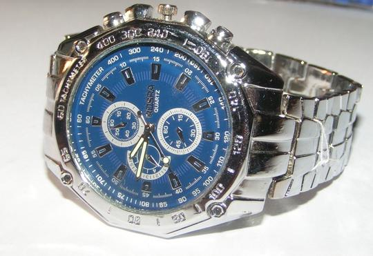 Other BOGO Stainless Steel Silver Men's Watch Blue Face Free Shipping