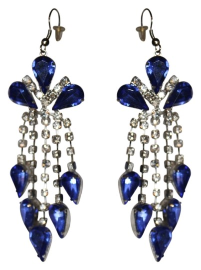 UNKNOWN FANCY RHINESTONE DANGLE DROP EARRINGS