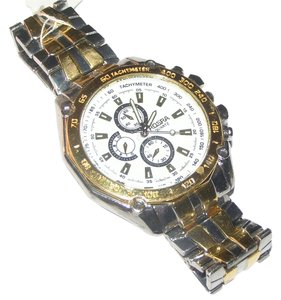 Other BOGO Two Tone Stainless Steel Men's Quartz Watch Free Shipping