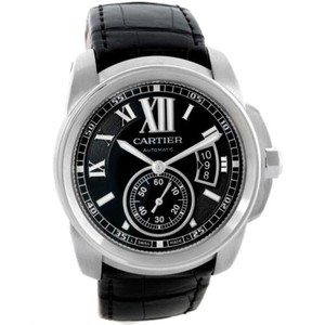 Cartier Cartier Calibre Steel Automatic Black Dial Mens Watch W7100041