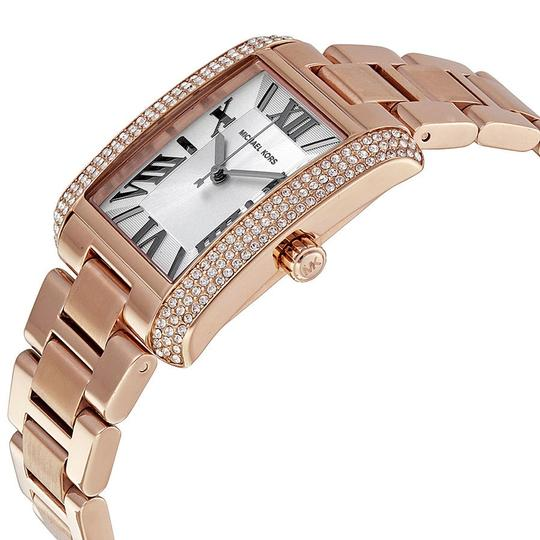 Michael Kors Rectangular Crystal White Dial Rose Gold Classic Luxury ladies Watch