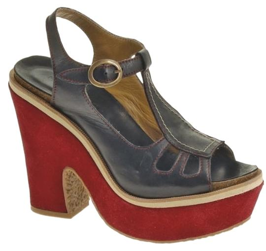 Hush Puppies Black/red Platforms