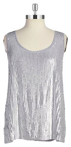 Michael Kors Sparkle Holiday Top Silver Grey