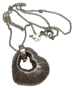 Pasquale Bruni PASQUALE BRUNI - AMORE COLLECTION - Solid 18k 18kt Blackened White Gold Wire-wrapped HEART Pendant and 20