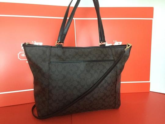 Coach Signature Large Tote in black /brown