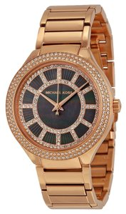 Michael Kors Rose Gold Ladies watch with Black and Crystals Dial