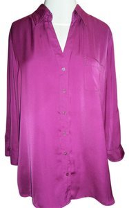 Apt. 9 Apt Longsleeve Button Down Shirt Fuchsia