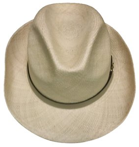 Gucci Gucci straw fedora with horse buckle leather strap