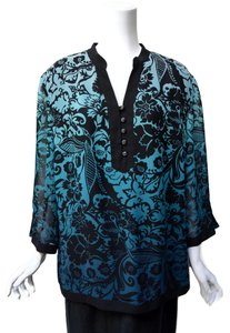 JM Collection Georgette Plus Size Tunic