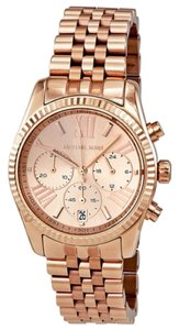 Michael Kors Textured Stainless Steel Rose Gold Casual Designer Ladies Watch