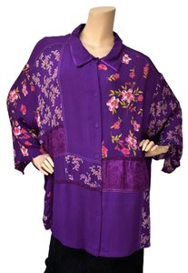Roaman's 4x 36w Floral Tunic