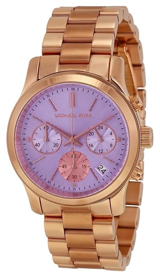 Preload https://item2.tradesy.com/images/michael-kors-purple-dial-classic-casual-rose-gold-stainless-steel-designer-ladies-watch-5339896-0-0.jpg?width=440&height=440