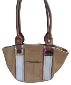 Tignanello Satchel in Beige & Cream