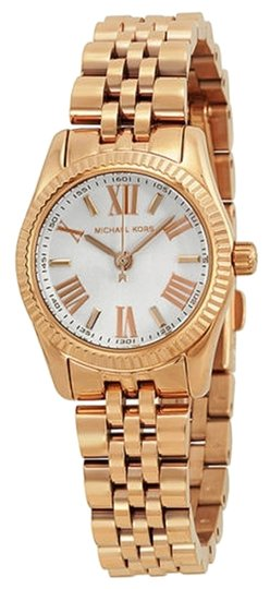 Preload https://item2.tradesy.com/images/michael-kors-white-dial-small-round-rose-gold-stainless-steel-ladies-watch-5340016-0-0.jpg?width=440&height=440