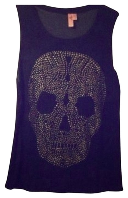 Urban Outfitters Lip Service Sequin Tank T Shirt Skull