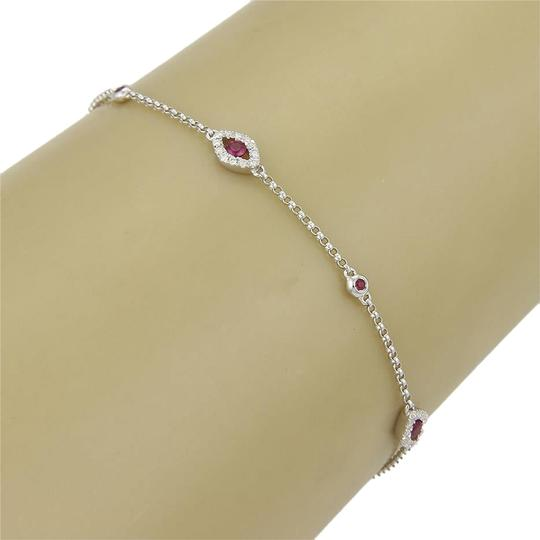 Preload https://item3.tradesy.com/images/good-luck-eye-bracelet-15462-elegant-good-luck-eye-bracelet-with-rubies-and-diamonds-in-18k-white-gold-5340322-0-0.jpg?width=440&height=440