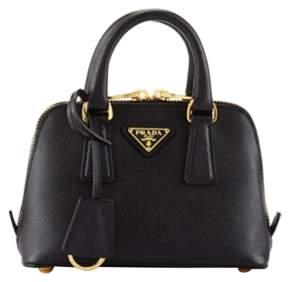 e792a212d3d0 Prada Promenade Saffiano Mini Black Nero Cross Body Bag - Tradesy