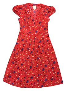 Karen Walker short dress Red floral on Tradesy