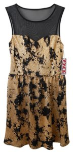 Bongo Gold Nylon Dress