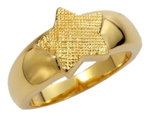 Tuleste Market Tuleste Market Textured Single Star Gold Ring